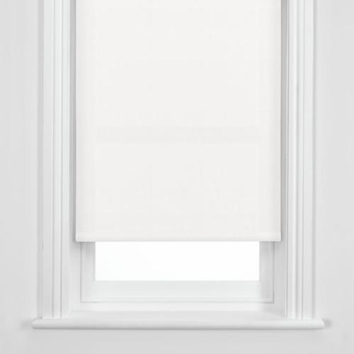 Luxury Plain Straight Roller Blind 0 9m 90cm In White