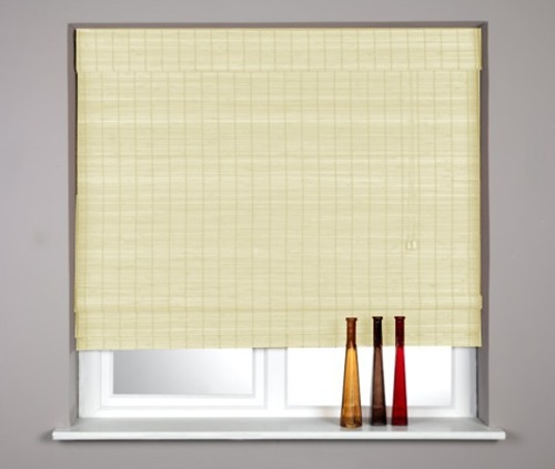 Woven Wood Classic Roman Blinds Cream Or Black Finish New