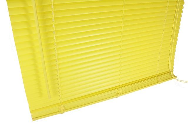 venetian blind blinds pvc yellow 80cm 2ft 8in new. Black Bedroom Furniture Sets. Home Design Ideas
