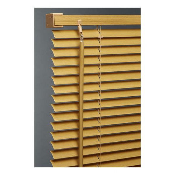 venetian blind blinds pvc wood grain pattern teak 135cm. Black Bedroom Furniture Sets. Home Design Ideas