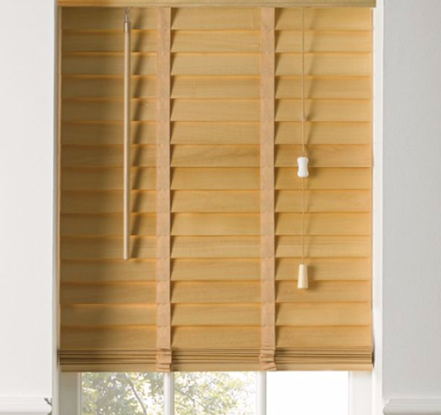 hard wood venetian blinds light wood natural 50mm slats