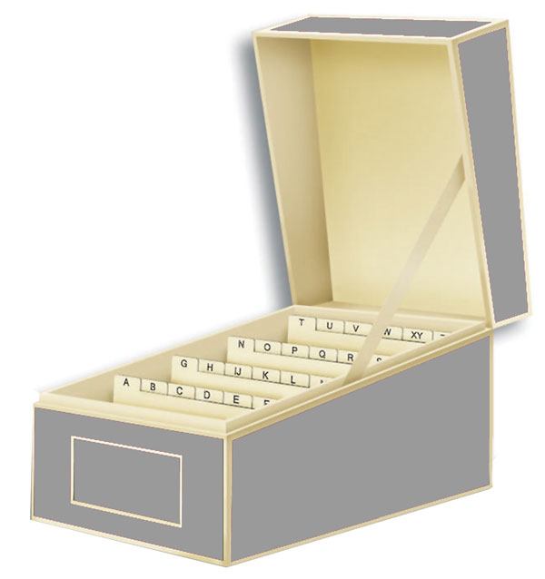 Semikolon Index Card Box Home Office Storage