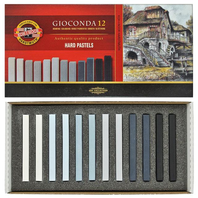 Grey Koh-I-Noor Gioconda Pack of 12 Hard Chalks