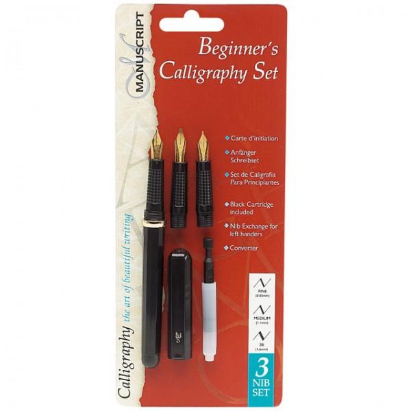 Manuscript Beginners 3 Calligraphy Pen Writing Set New Ebay