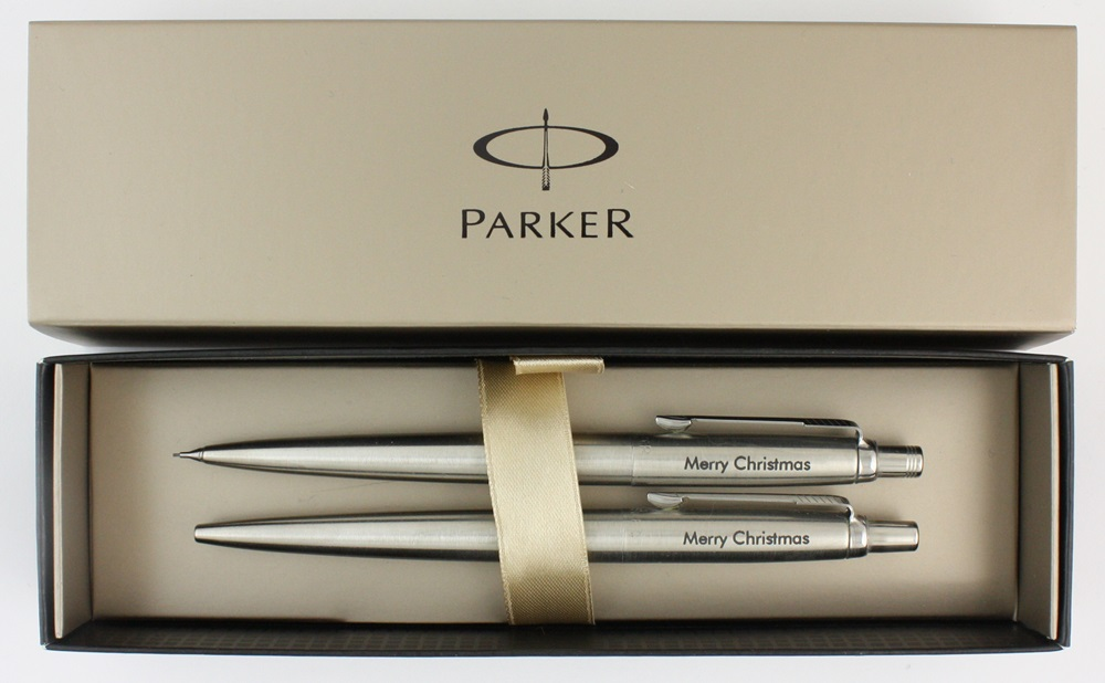 Parker Jotter Ballpoint Pen & Pencil SET Personalised Gift ...