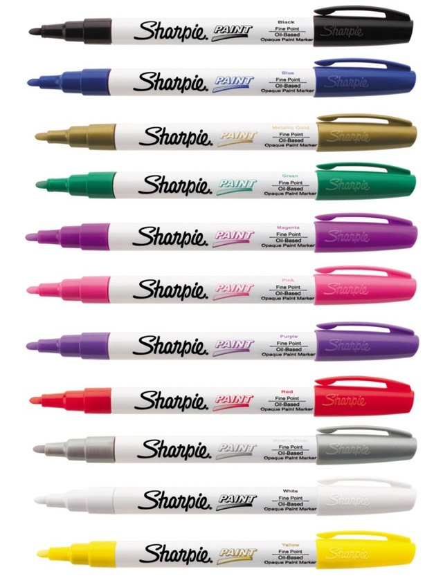 Sharpie-Paint-Marker-FINE-Tip-Pens-OIL-BASED-Most-surfaces-Indoor-Outdoor