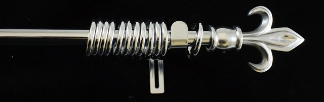 CHROME-Metal-16mm-Curtain-Poles-2-Pole-ends-NEW
