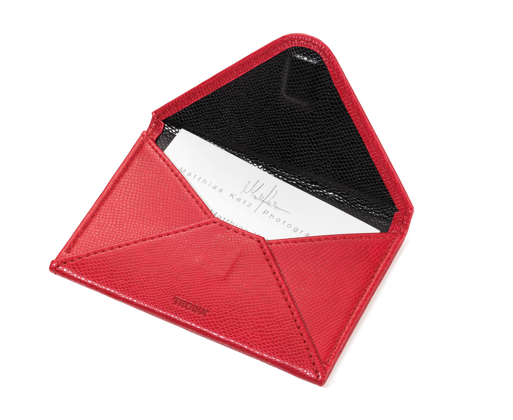 Troika colori confidence leather business card holder in product details reheart Image collections